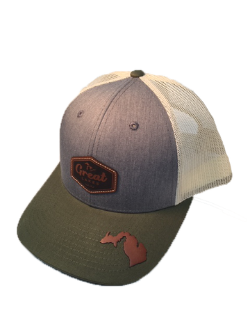 Great Lakes Trucker Hat w/Leather