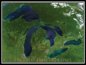 Michigan from Space Puzzle - 550 pcs