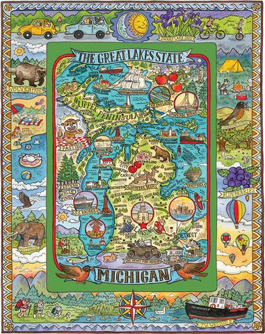 The Great Lakes State - Michigan Puzzle - 1000 pcs