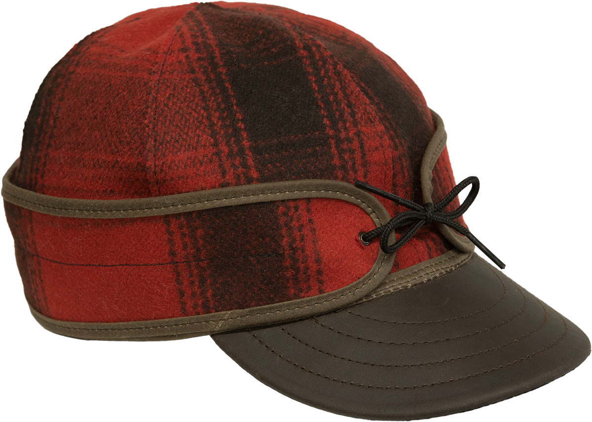 The Original With Leather - Red & Black Plaid