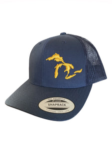 Great Lakes Trucker Hat - Maize/Blue