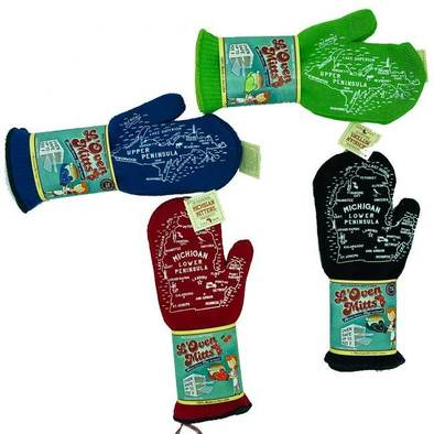 Michigan L'Oven Mitts - Now we're cookin'