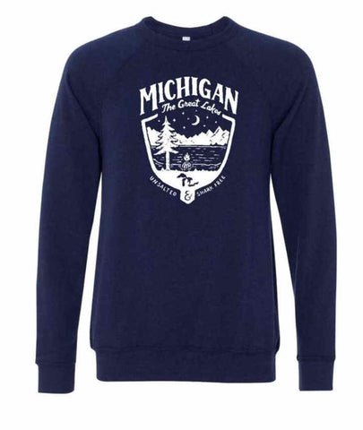 Michigan Shield Triblend Fleece - Unisex