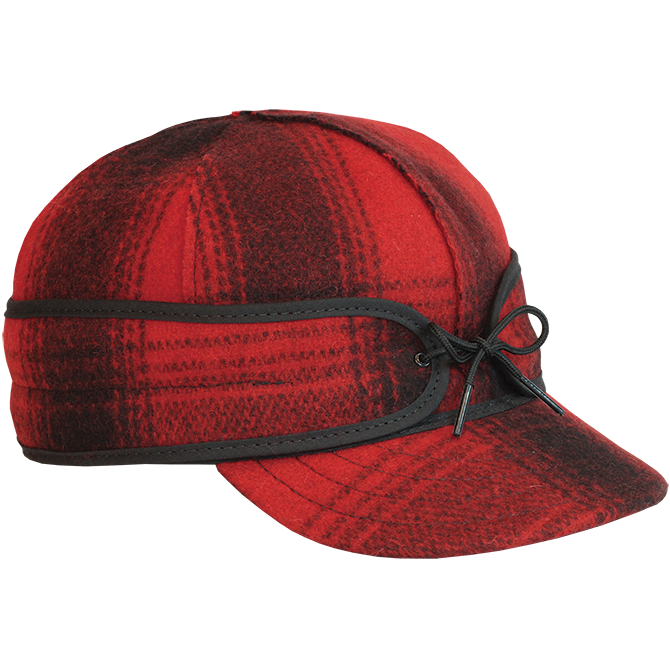 The Original Stormy Kromer® Cap - Red & Black Plaid