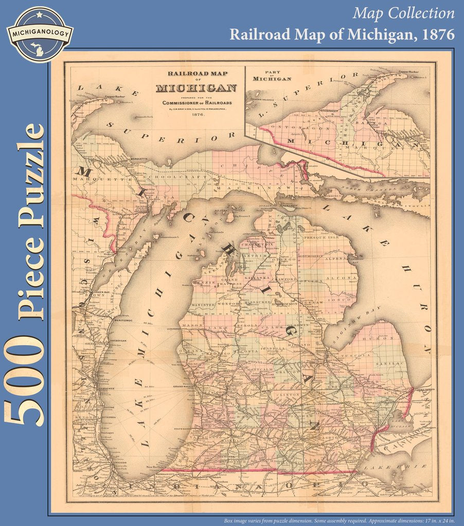 Railroad Map of Michigan Puzzle