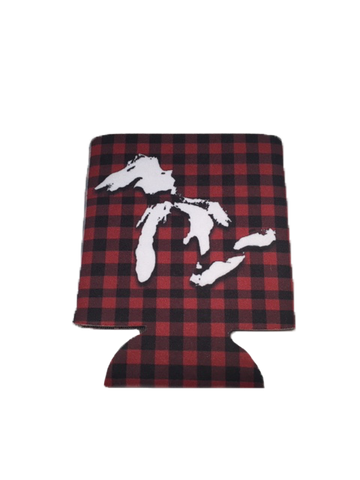 Great Lakes Plaid Can Cooler