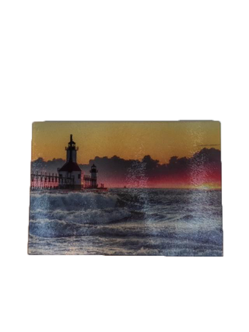 St Joseph Lighthouse Glass Cutting Board