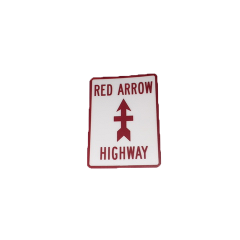 Red Arrow Highway Sticker