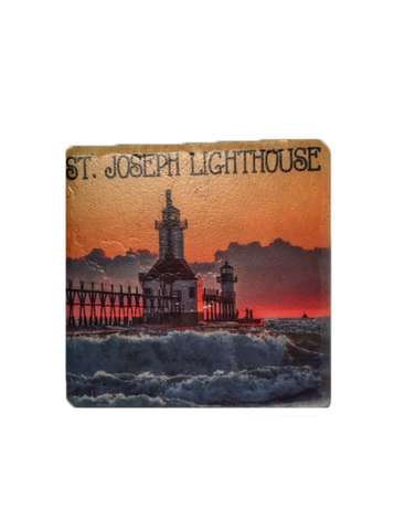 St Joseph Lighthouse Coaster