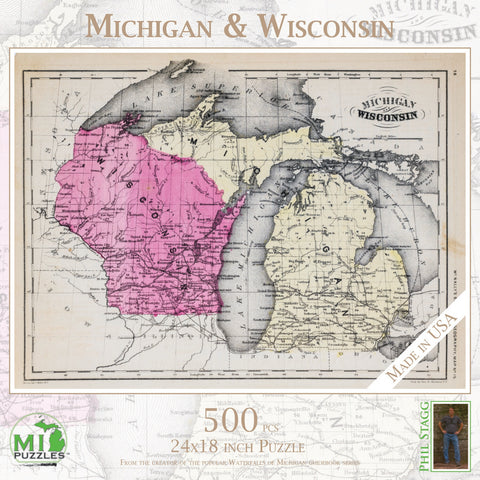 Michigan & Wisconsin Puzzle - 500 pcs