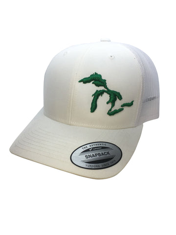 Great Lakes Trucker Hat - White w/Green