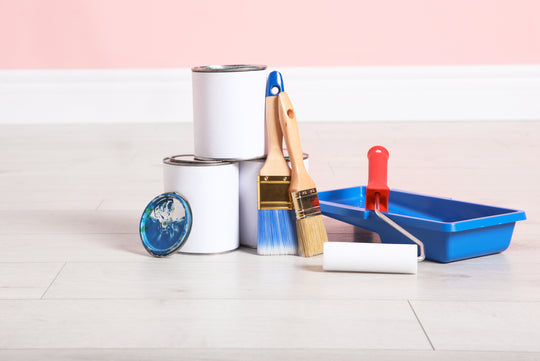 Image of painting supplies for use with Digby Premium paint. A great paint job requires great tools which is why we only offer the best to help you get a paint job you can be proud of.Buy interior home paints online.