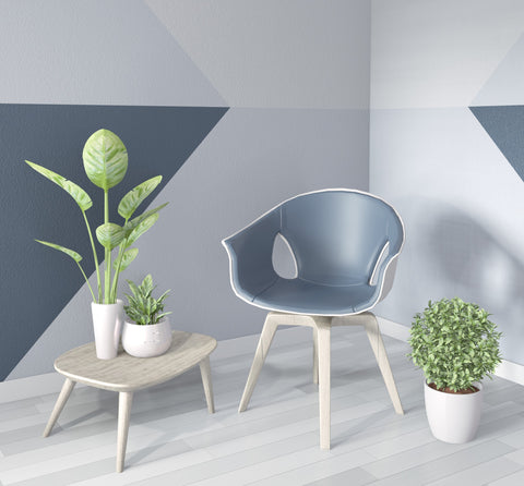 Grey Colour Blocked Wall