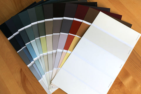Image of Digby Paints' colour cards to help with colour selection