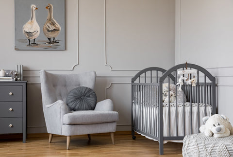 Grey Nursery with Moulding