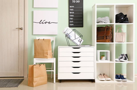 Mint Entryway with Cubbies