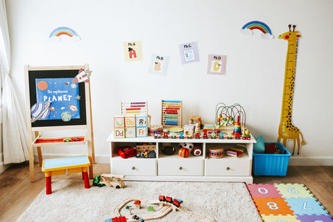 Neutral Room with Colourful Toys