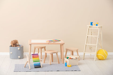 Pastel Kid's Room with Toys