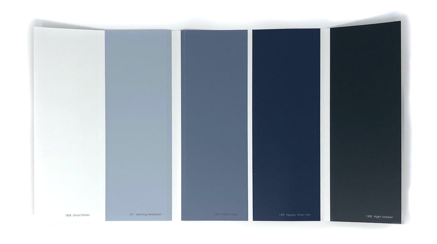 Colour Card: Blues with red undertones - Digby Paints