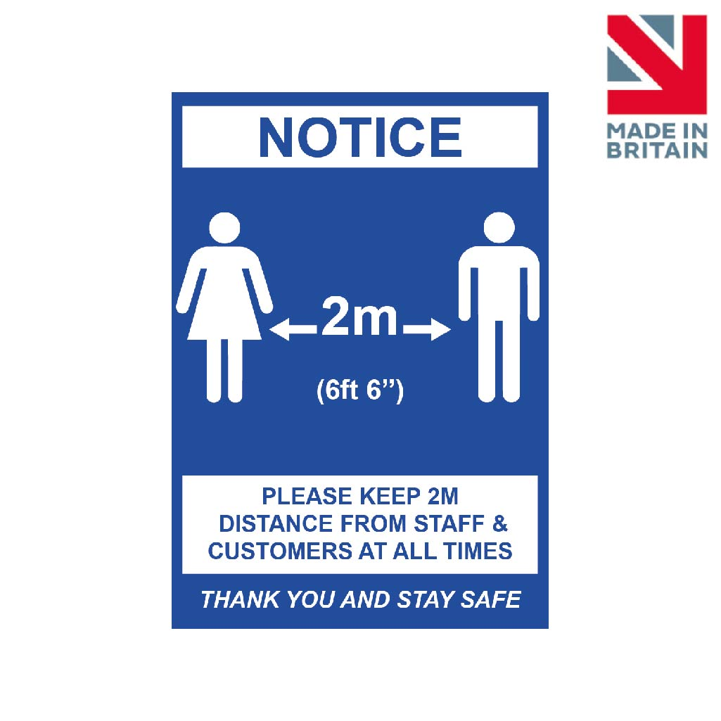 Sign | Please keep 2m distance