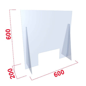 Perspex Virus Shield | with cut-out | 600x600mm 900x800mm