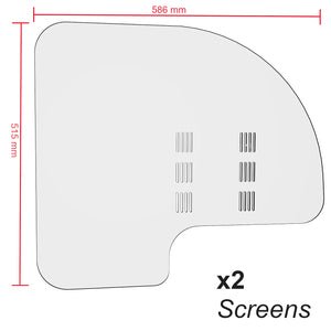 Taxi Coach Car Bus Isolation Screen Sneeze Guard Partition | Polycarbonate (2 Screen Pack)