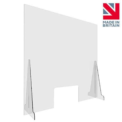 Sneeze Guard Screen - 800 x 900 mm 3mm Thick