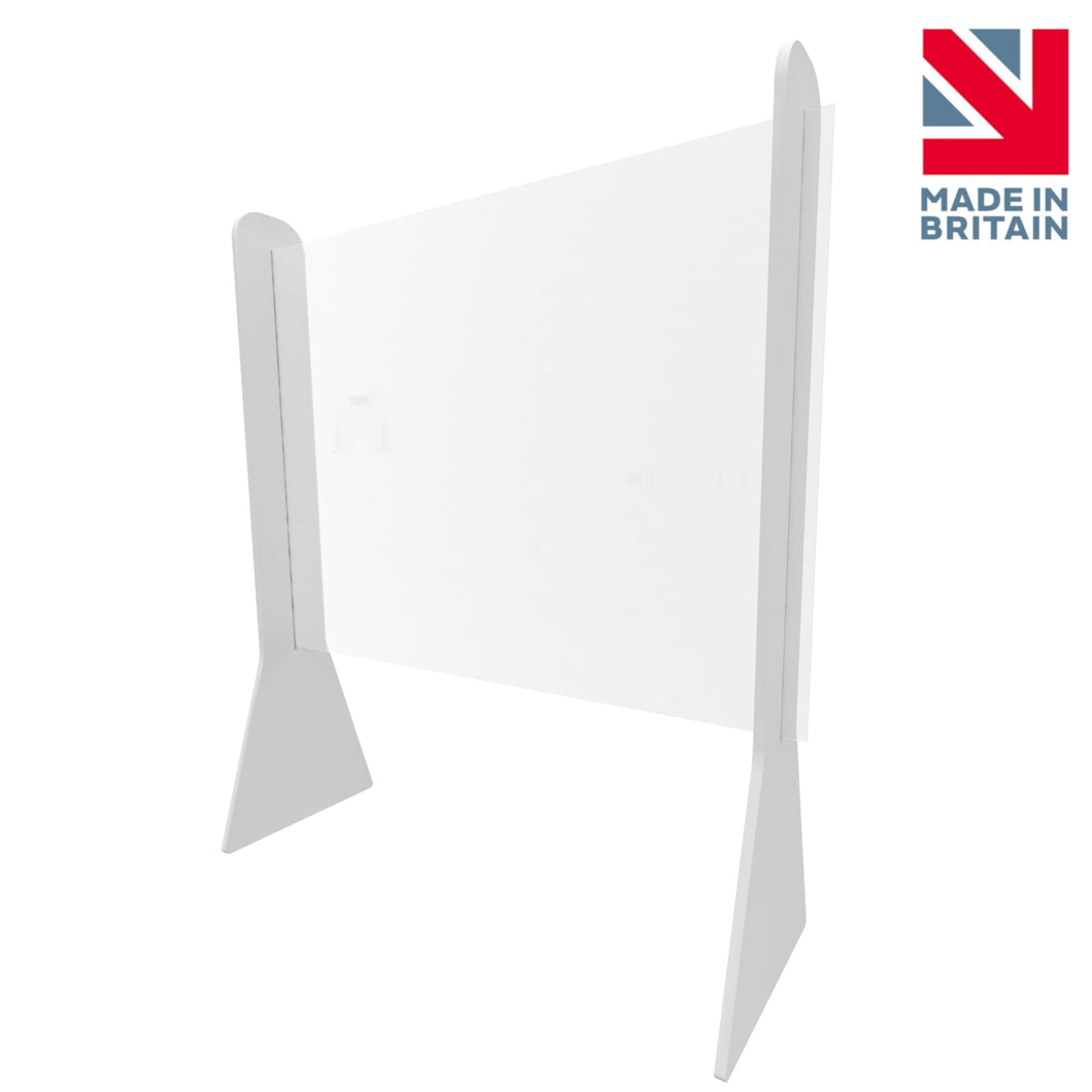 Perspex Sneeze Guard Screen - Shop Counter Checkout Screen (600 x 600 mm)