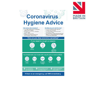 Sign | Coronavirus Hygiene Advice 2