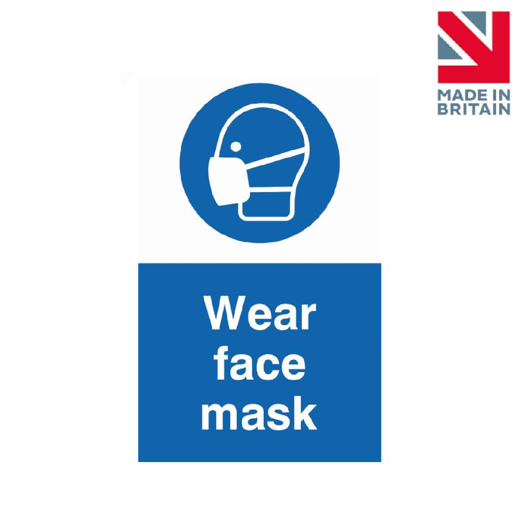 Sign | Wear face mask