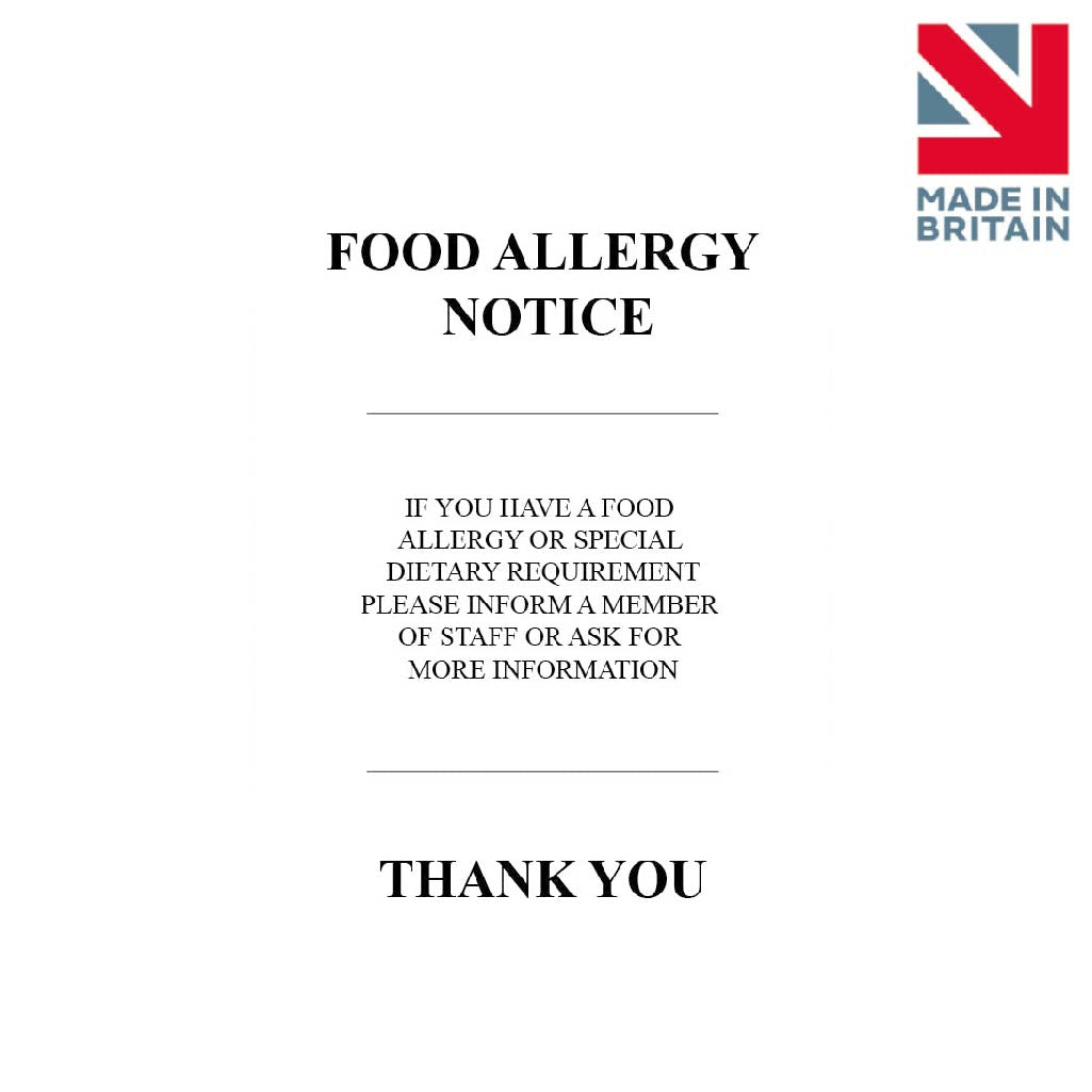 Sign | Food Allergy Notice