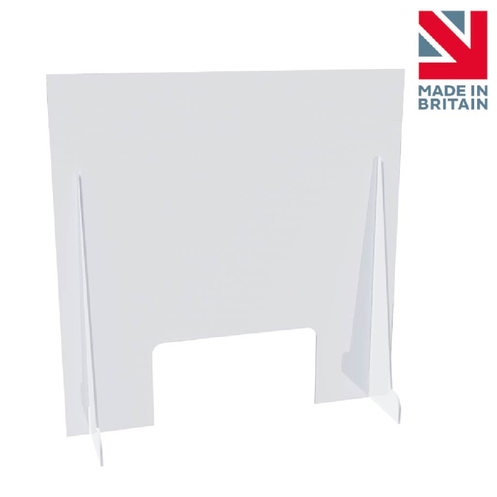 600 x 600 mm Sneeze Guard Screen - Made in UK