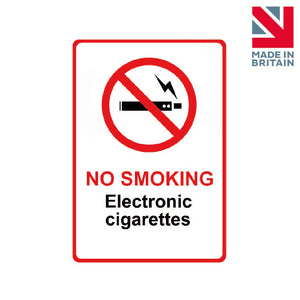 Sign | No Smoking Electronic Cigarettes