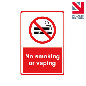 Sign | No smoking or vaping