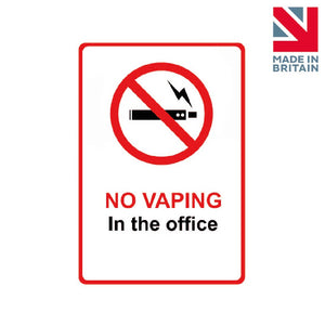Sign | No vaping in the office