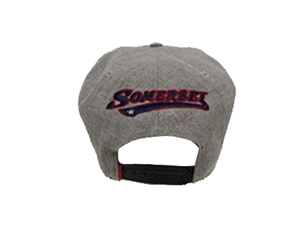 Acrylic Wool Heathered Grey Adjustable Snap Back
