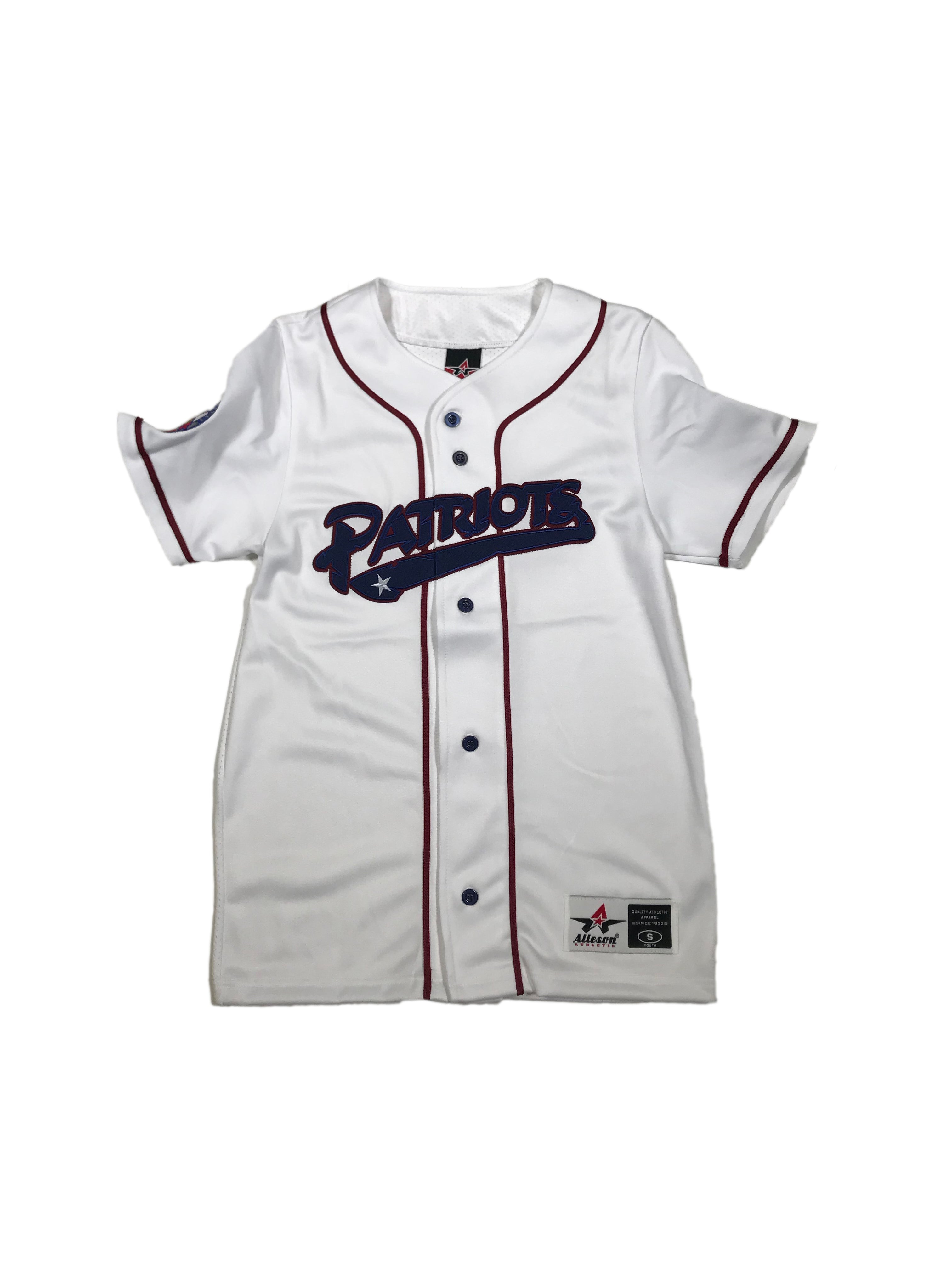 Youth Full Button Twill Home Jersey