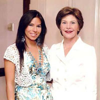 Jana and First Lady Bush