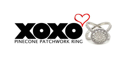 XOXO Pinecone Patchwork Ring