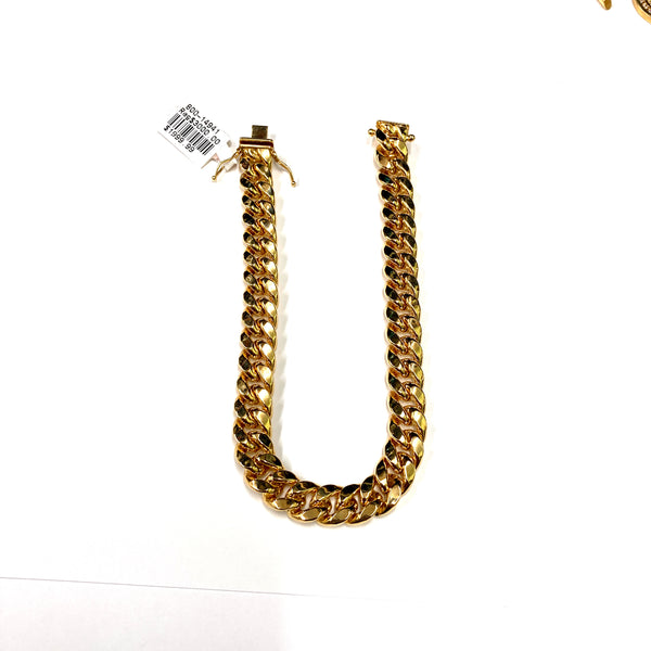 10kt Gold Cuban Link 9mm Bracelet
