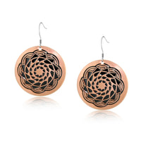 Copper Pinecone Patchwork Earring