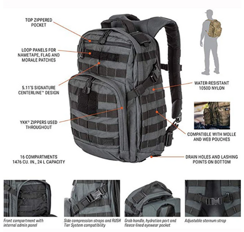 RUSH12 Tactical Military Backpack - Best Tactical Backpacks of 2020