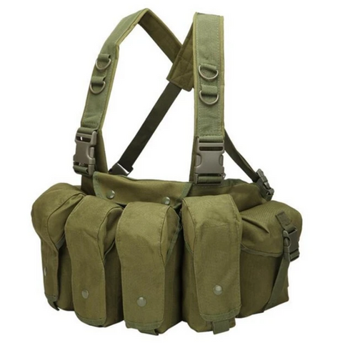 ARMY GREEN Rapid Assault Pocket Chest Rig - Best Tactical Vests 2020