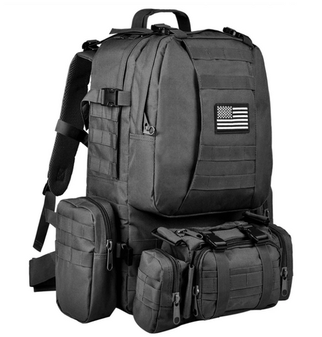 Black Tour of Duty Outdoor 72 Backpack Military Tactical Backpack - Best Tactical Backpacks of 2020