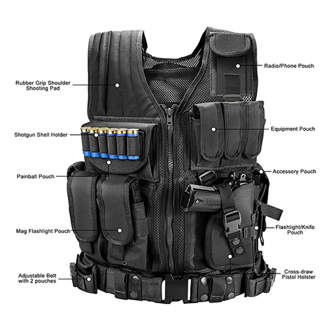 Black Elite Sportsman Tactical Scenario Vest - Best Tactical Vests 2020