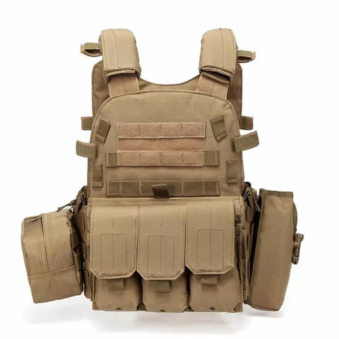 KHAKI Outlife USMC Airsoft Military Tactical Vest - Best Tactical Vests 2020