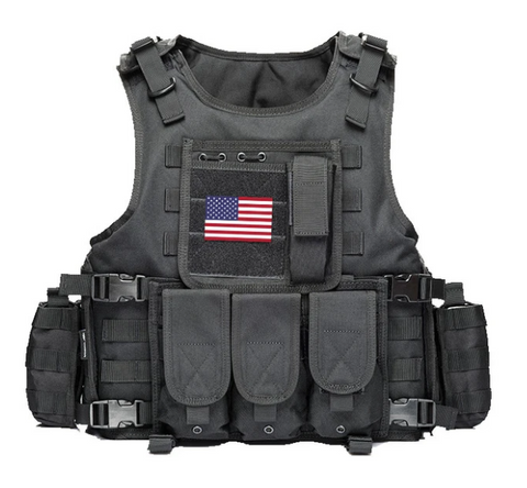 black Modern Elite Tactical Vest - Best Tactical Vests 2020