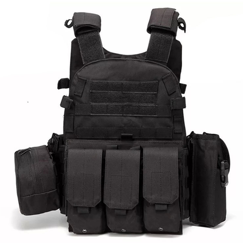 Black Outlife USMC Airsoft Military Tactical Vest - Best Tactical Vests 2020
