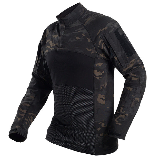 Scorpion OCP 1/4 Zip Military Combat Shirt Men's Tactical Army Assault Camo Shirt
