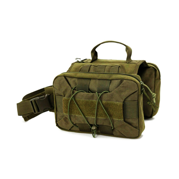 Tactical Dog Backpack Hound Dog Harness Vest with 2 Large Side Bags